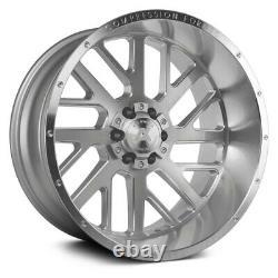 Ax Ax2.1 Compression Forged Wheels 20x10 (-19, 8x170) Argent Jantes Jeu De 4