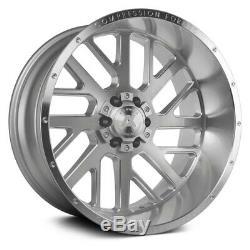 Ax Ax2.1 Compression Forged Wheels 22x10 (-19, 8x165.1) Argent Jantes Jeu De 4