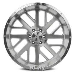 Ax Ax2.1 Compression Forged Wheels 22x12 (-44, 8x165.1) Argent Jantes Jeu De 4