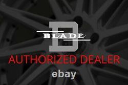 Blade Brvt-455 Venzo Roues 24x9 (15, 5x114.3, 74.1) Rims En Argent Ensemble De 4