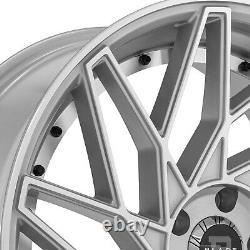 Blade Brvt-455 Venzo Wheels 24x9 (15, 5x114.3, 74.1) Silver Rims Ensemble De 4