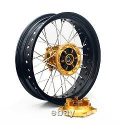 Bracket De Rotors Supermoto 17 Roues Arrière Avant Pour Suzuki Drz400sm 2000-2020