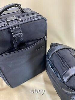 Briggs & Riley Black Carry On Set Small Tote & 21 Upright Exp Wheeleed Suitcase