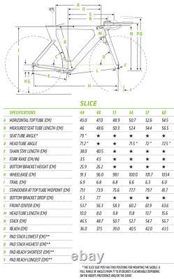 Cannondale Slice Hi-mod Triathlon Bike 48 (petit) Carbon Superteam Wheelset! Tri
