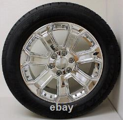 Chevy 20 Chrome Wheels Goodyear Tires Set For 2000-18 Silverado Tahoe Suburban