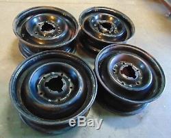 Citroen Sm Steel Wheels Jantes 15x6 - Ensemble De 4-belle Forme - Mt