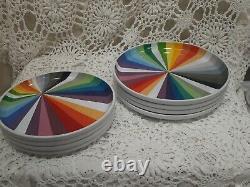 Ensemble De 8 Pièces Novogratz Rainbow Prism Plate Color Wheel Small And Large Céramique