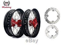 Ensemble De Roues Et Rotors Supermoto Pour Honda Xr650l Xr 650 L 17 Pouces 1997-2012