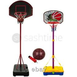 Free Standing Basketball Hoop Net Backboard Stand Set Roues Portables Réglables