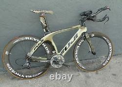 Fuji D6 Triathlon Road Bike Carbon Fibre Reynolds Strike Wheelset Sram Red Small