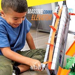 Hot Wheels Ftb67 City Gator Car Wash Connectable Play Set Avec Diecast Et Mini