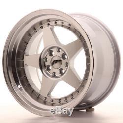 Japan Racing Jr6 17x10 Et20 5x100 5x114 Machsilver Set 4 Cerchi À Lega / 4 Roues