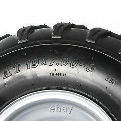 Jeu De 2 Roues Atv 8 Pouces Pneumatiques 19x7-8 19x7.00-8 Pneu Rim Quad Bike Small Bolt