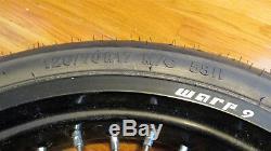 Kawasaki Klx250 Warp 9 17 Jeu De Roues, Rotor Ebc Sm6330c, Nouveaux Pneus Contiforce