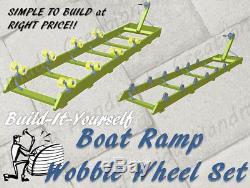 Kit De Rampe De Bateau Ket Ski Wave Runner Shore Dock Lift Roue À Rouleaux Set 1200-2000 Lb