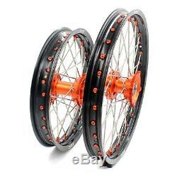 Kke 17/14 Enfants Petites Roues Jantes Set Ktm85 Sx 2003-2020 Mini Bike Hub Orange