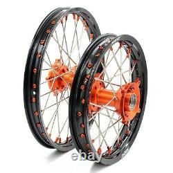 Kke 17/14 Jeu De Roues Pour Petit Enfant Pour Ktm 85 Sx 2003-2020 Mini Dirtbike Orange Hub