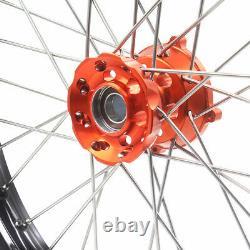 Kke 17/14 Petit Jeu De Roues Enfant Pour K 85 Sx 2003-2020 Mini Dirt Bike Orange Hub