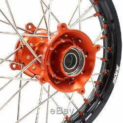 Kke 17/14 Petites Roues Enfant Jantes Set Ktm 85 Sx 2003-18 Mini Bike Orange Nip