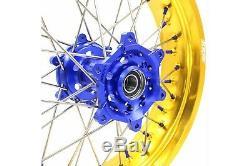 Kke 17 Pouces Supermoto Wheel Set Suzuki Drz400sm 2005-2018 Drz400 E Or Rim