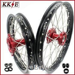 Kke 19/16 Petites Roues Enfant Jantes Set Honda Fit Cr80r 93- 02 Cr85r Mini Bike Rouge