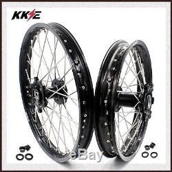 Kke 21/18 Drz400 Drz400e Drz400s Drz400sm Enduro Jantes Roue Ensemble Pour Suzuki Noir