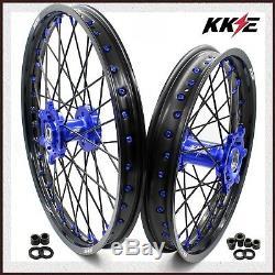 Kke 21/18 Drz400 Drz400e Drz400s Drz400sm Jeu De Roues Enduro Pour Suzuki Bleu / Blk