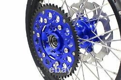 Kke 21/18 Enduro Cnc Dirt Bike Wheel Rim Set For Suzuki Drz400sm 2005-2020 Bleu