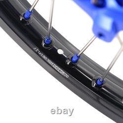 Kke 21/18 Enduro Jantes De Roue Cnc Set Pour Drz400 Drz400sm 400e 400s Nipples Bleus