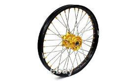 Kke 21 18 Enduro Rim Wheel Set Pour Suzuki Drz400 Drz400s Drz400e Drz400sm Or