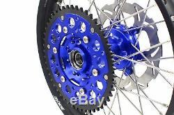 Kke 21/18 Enduro Roues Ensemble De Jantes Pour Suzuki Drz400sm 2005-2018 Blue Disc Cnc