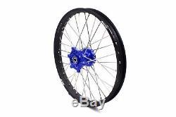 Kke 21/18 Enduro Roues Jeu De Jantes Fit Suzuki Drz400 Drz400s Drz400e Drz400sm Bleu