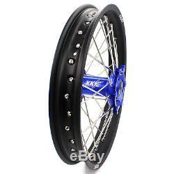 Kke 21/18 Enduro Roues Jeu De Jantes Fit Suzuki Drz400sm Drz400 Drz400s Drz400e Bleu