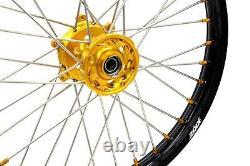 Kke 21/18 Enduro Roues Rims Set Pour Suzuki Drz400s 2000 Drz400sm 2020 Drz400e