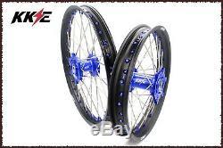Kke 21/18 Enduro Roues Spoked Set Pour Suzuki Drz400s Drz400sm Drz400e Bleu Nip