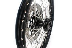 Kke 21/18 Enduro Wheels Rims Set Fit Suzuki Drz400sm 2005-2020 Disque Noir 310mm