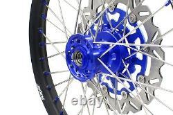 Kke 21 18 Ensemble Complet De Jantes Cnc Pour Suzuki Drz400sm 2005-2020 Blue Nipple