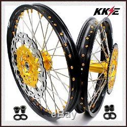 Kke 21/18 Ensemble Complet De Roues Enduro Pour Disques Nip Gold Suzuki Drz400sm 05-18