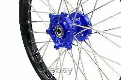 Kke 21/18 Roues D'entraînement Cush Rim Set Fit Suzuki Drz400e Drz400s/sm 2000-2020 Bleu