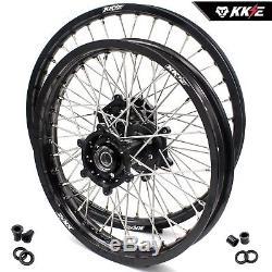 Kke 21/19 MX Ensemble De Jantes Pour Suzuki Drz400 Drz400s Drz400e Drz400sm Blackhub