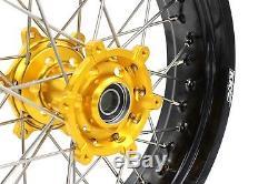 Kke 3.5 / 4.25 Drz400 Drz400e Drz400s Drz400sm Supermoto Jeu De Roues Pour Suzuki Gold