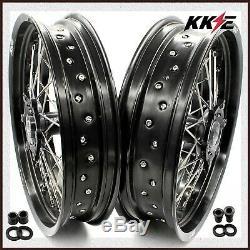 Kke 3.5 / 4.25 Ensemble De Roues Supermoto Pour Suzuki Drz400s 00-19 Drz400sm 05-19 Drz400