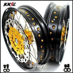 Kke 3.5/4.25 Fit Pour Suzuki Drz400sm 2005-2020 Ensemble De Disques De Jeu De Roues Supermoto