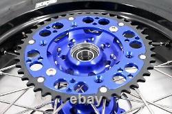 Kke 3.5/4.25 Jeu De Roues Supermoto Suzuki Drz400sm 2005-2020 Cst Pneus Bleu