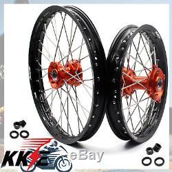 Kke Wheels 1.417 & 1.614 Pour Ktm85 Sx Petites Roues Jantes Set Orange 2003-2018