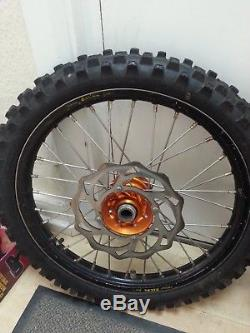 Ktm 85 Small Wheels Spare Set Roues / Pneus Moyeux Orange Talon