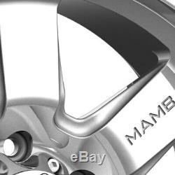 Mamba M14 Roues 17x9 (12, 5x127, 78,1) Argent Jantes Jeu De 4
