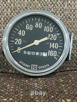 Mesure De Vitesse Mécanique Stewart Warner Des Années 1960 3-3/8 160mph Millésime
