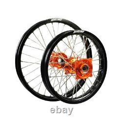New States MX Wheel Set Ktm 85sx Petite Roue 17 Avant/14 Arrière Noir/orange