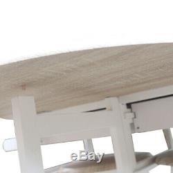 Petite Cuisine Table À Manger Et Chaises Pliantes Île 2 Tabourets Chariot Roues